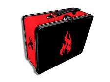 Legion Tin Lunchbox Gaming Case MTG Card Deck Box Holder - Iconic Red Fire
