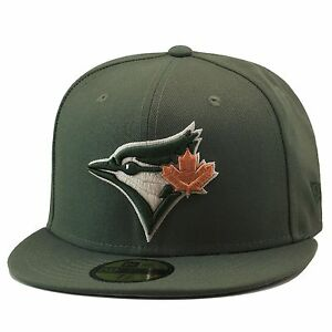 New-Era-Toronto-Blue-Jays-Fitted-Hat-Olive-Green-Tan-Leaf-For-timberland