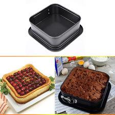 "6""X6"" Square Nonstick Cheesecake Cake Torte Quiche Springform Pan Baking Mold"