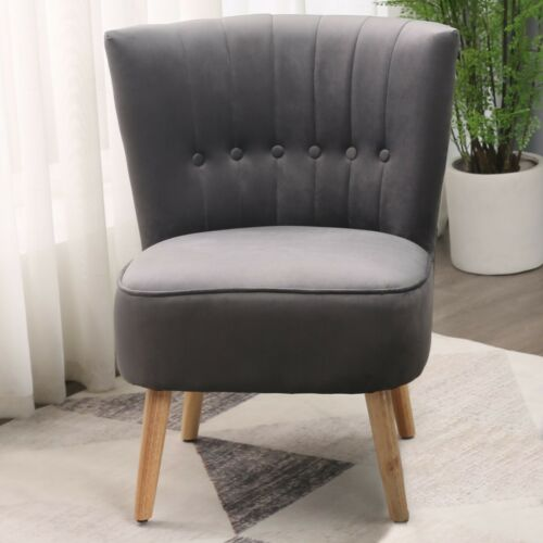 CHESTER VELVET FABRIC ACCENT OCCASIONAL TUB CHAIR ARMCHAIR LOUNGE BEDROOM