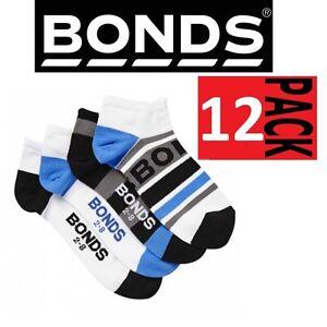 8-PAIRS-x-BONDS-KIDS-ACTIVE-INVISI-GRIP-SOCKS-Boys-Blue-Low-Cut-10-years-Plus