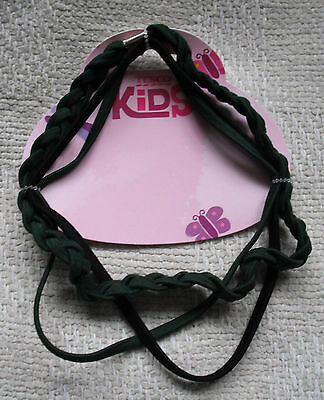 Tesco Kids Elasticated Hair Headbands X 3-1 X Black & 2 X Green Bnwt Kids' Clothes, Shoes & Accs. Girls' Accessories