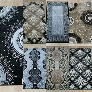 RUG-GREY-BROWN-SILVER-AND-GOLD-GLITTER-HALLWAY-RUNNER-THICK-DENSE-PILE-NEW