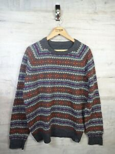 VTG-Bill-Cosby-Style-fatface-Strick-Wolle-Pulli-Pullover-REFA-21-gross