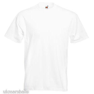 Fruit of the Loom SUPER PREMIUM T Shirt Heavy Cotton Blank Tee Shirt S-3XL