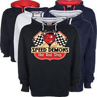 Hot Rod Hoodie Speed Demon Racing Race American V8 Custom Classic Vintage Car 70