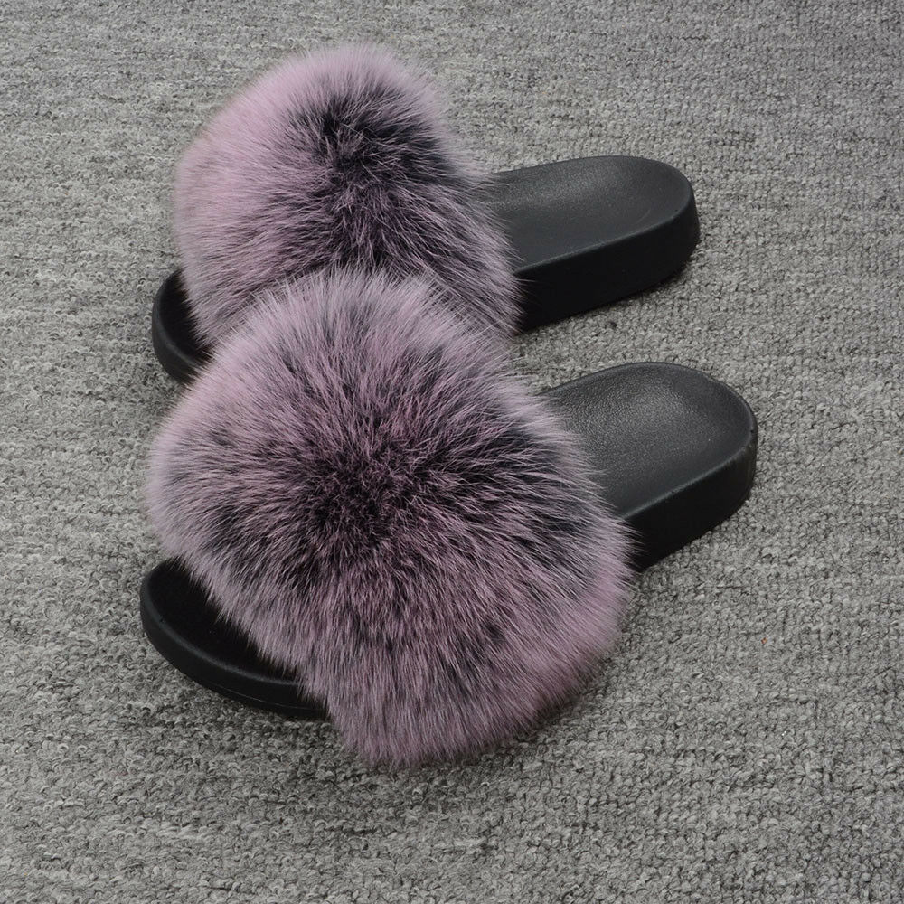 Vera PELLICCIA VOLPE Pantofole NUOVO FLOPS donne moda appunto FLIP FLOPS NUOVO 66019a 5b89d5