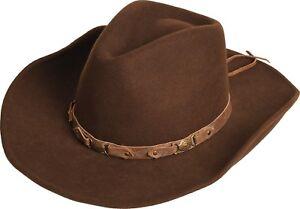 Formbare Hut Cowboyhut Neu Krempe Bandit Braun Scippis Lederband Wollhut fUqgqwY