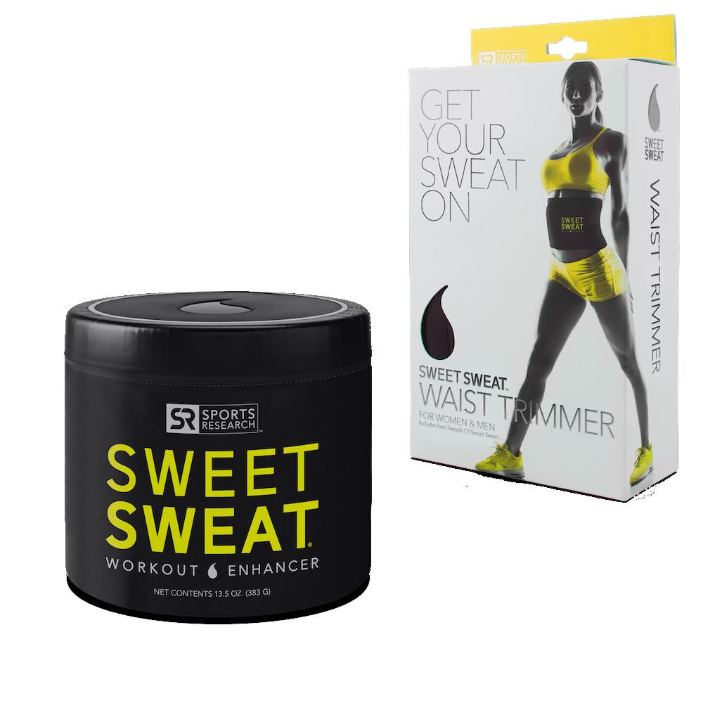 Sweet Sweat Waist Trimmer  Medium & Sweet Sweat Jar 13.5-Ounce Gelb Logo