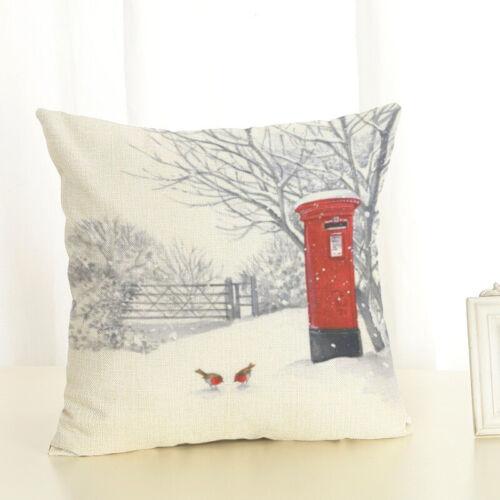 Xmas Series Cushion Cover Case Custom Square Zippered Pillowcase Kids Bedding