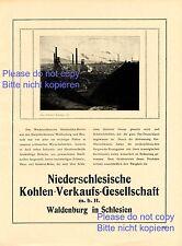 Kohle Gesesschaft Waldenburg XL 1923 Reklame & Historie Walbrzych Schlesien
