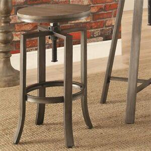 Pleasant Details About Coaster Swivel Height Adjustable Bar Stool In Medium Walnut Creativecarmelina Interior Chair Design Creativecarmelinacom