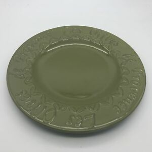 Sakura-Les-Olives-de-Provence-Green-Embossed-Earthenware-Dinner-Plate