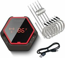 150Ft INKBIRD Bluetooth BBQ Thermometer IBT-6XS Kitchen Outdoor 1000mAh LiBatter