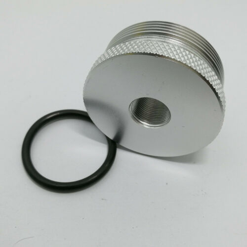 """1PC 4003//24003 Fuel Filter Replacement End Cap 5//8/""""-11 Silver"""