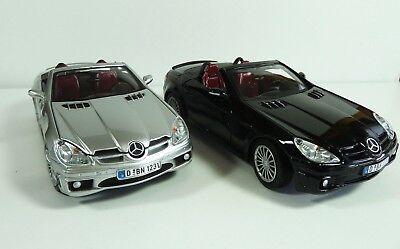2 Colors Mercedes Benz Slk55 Amg Silver Black 1 24 Diecast Car By Motor Max Ebay