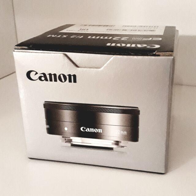 Canon EF-M 22mm 1:2 STM Weitwinkel Pancake-Objektiv 43mm Filtergewinde - schwarz