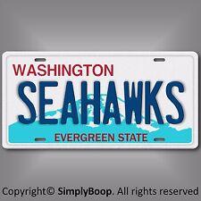 Seattle Seahawks NFL NFC West Football Team Aluminum Vanity License Plate Cool