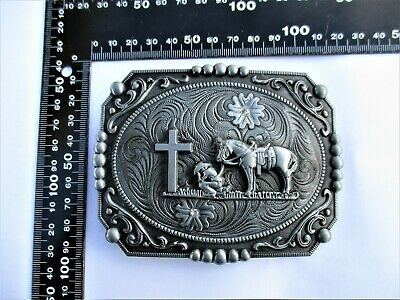 Lots Retro Cowboy West Style 3D Patterns Alloy Pin Buckle For 38 40mm Belt