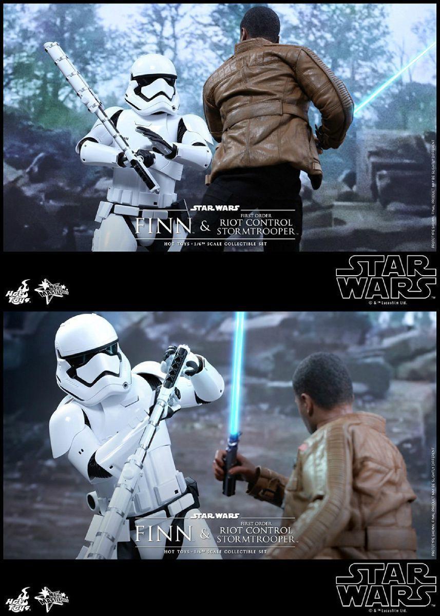 Movie Masterpiece Star Wars FINN & FIRST ORDER ORDER ORDER STORMTROOPER 1 6 Figure Hot Toys c215a9
