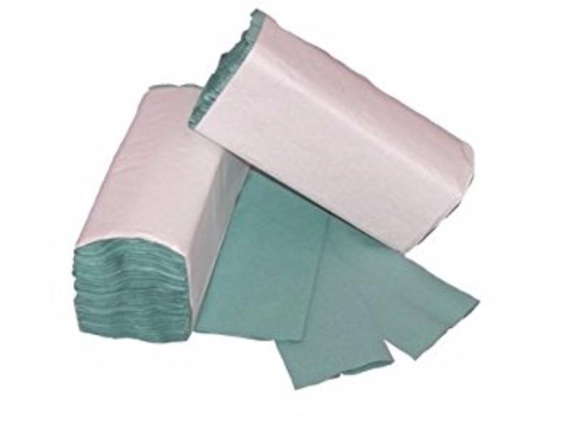 10880 x Grün 1 PLY C-FOLD PAPER HAND TOWELS MULTI FOLD