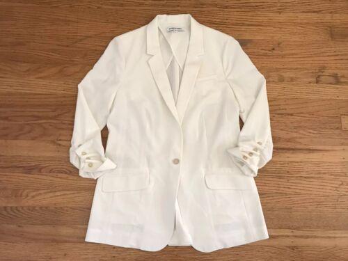 Elizabeth 6 Jacket Blazer Sleeve og Sz Ruched James Offwhite HqnHSrY