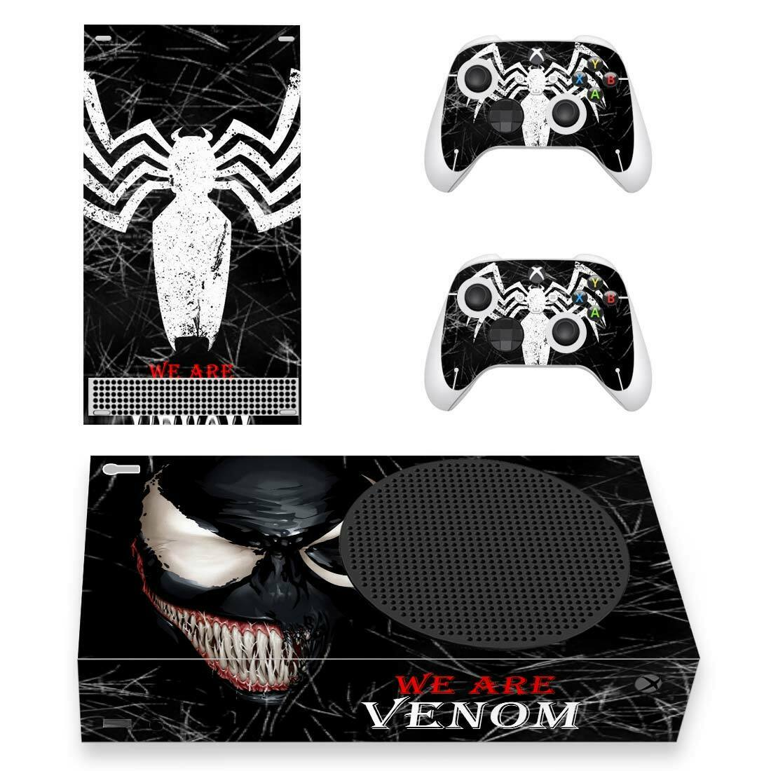 Venom Vinyl Design Skin Decal Sticker for Xbox Series S Console & 2 Controllers