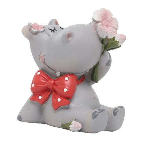 Resin Crafts Hippo Figurine Kids Toys Photography Props Micro Landscape DIY