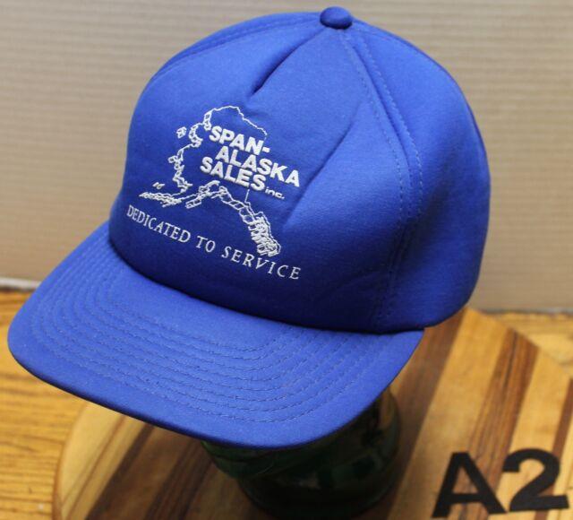 a87e5e170d0b9 VINTAGE SPAN-ALASKA SALES INC HAT RURAL SHIPPING GROCERIES SNAPBACK VGC A2