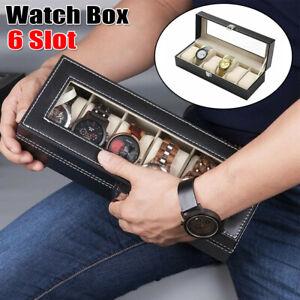 6Slot-Portable-Watch-Box-Leather-Jewelry-Bracelet-Storage-Display-Case-Organizer
