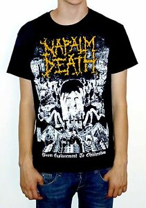Napalm-Death-034-From-Enslavement-To-Obliteration-034-Vintage-Print-T-shirt-NEW