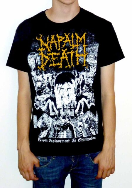 """Napalm Death """"From Enslavement To Obliteration"""" Vintage Print T-shirt - NEW!"""