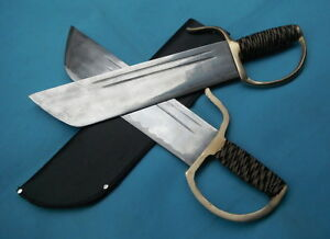 Details about Wing Chun Bart Cham Dao Stainless steel Blade Brass Gauntlets  Training war sword