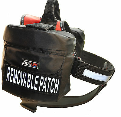 Dogline Unimax Service Dog Vest Harness Chest Plate Velcro Patches & Side Bags