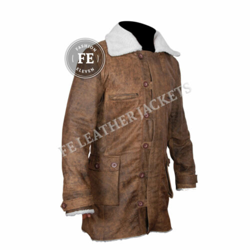 Cappotto marrone pelle oscuro da Cappuccio Trincea bano fibbia uomo cavaliere in vera da con vTvqr