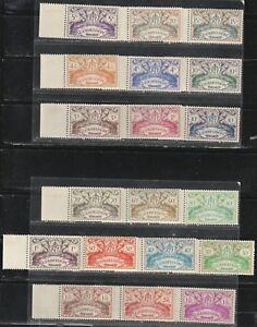 1945 Colonie FranÇaise Timbres, Guadeloupe, Série Complète Neuf Sans Charnière Sc 168-86-afficher Le Titre D'origine Renforcement De La Taille Et Des Nerfs