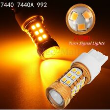Amber Yellow 27-SMD 2835 Chip 7440 7440A 992 Led Bulb For Car Turn Signal Lights