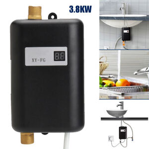 Details About 3 5kw Electric Tankless Water Heater Instant Hot Under Sink Kitchen Bathroom