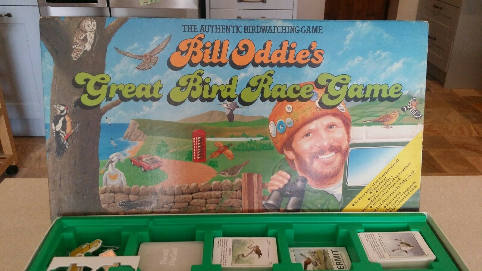 EXTREMELY RARE BILL ODDIE'S GREAT BIRD RACING GAME HTF Boxed 1988 Complete