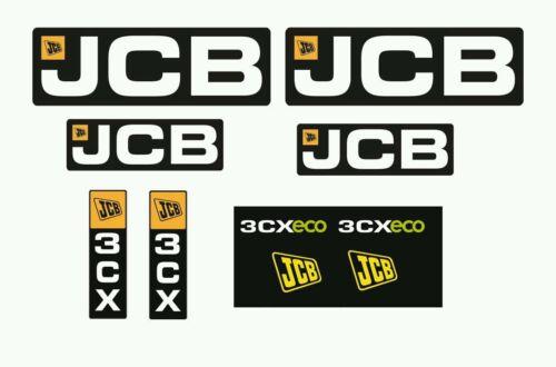 Kit de Pegatinas Adhesivos JCB 3CX modelo nuevo