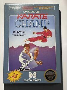 Karate Champ NES Mint First Print Hang Tab Box CIB W/ 5 Screw Cart & Manual