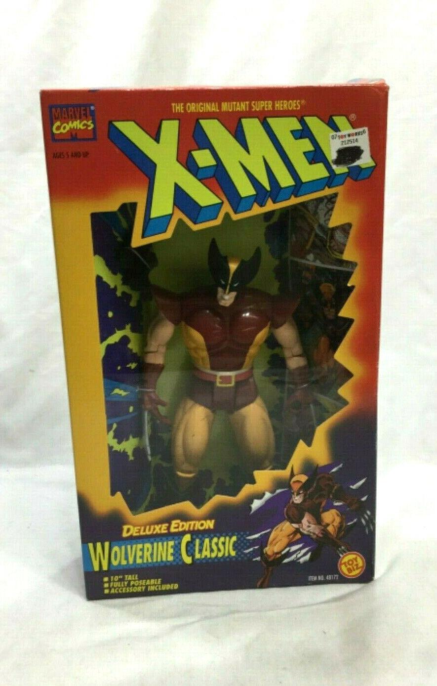 1994 giocattolobiz Marvel XMen Wolverine classeic cifra 10 POLLICI SIGILLATO DELUXE NUOVO RARO