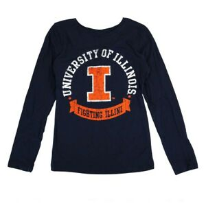 the best attitude 781d1 f3fb6 Image is loading Illinois-Fighting-Illini-NCAA-Youth-Navy-Blue-034-
