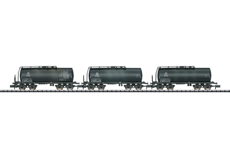 Trix Minitrix 15632 Set de Vagones Cisterna Vtg con Plataforma Frenado 3 Piezas