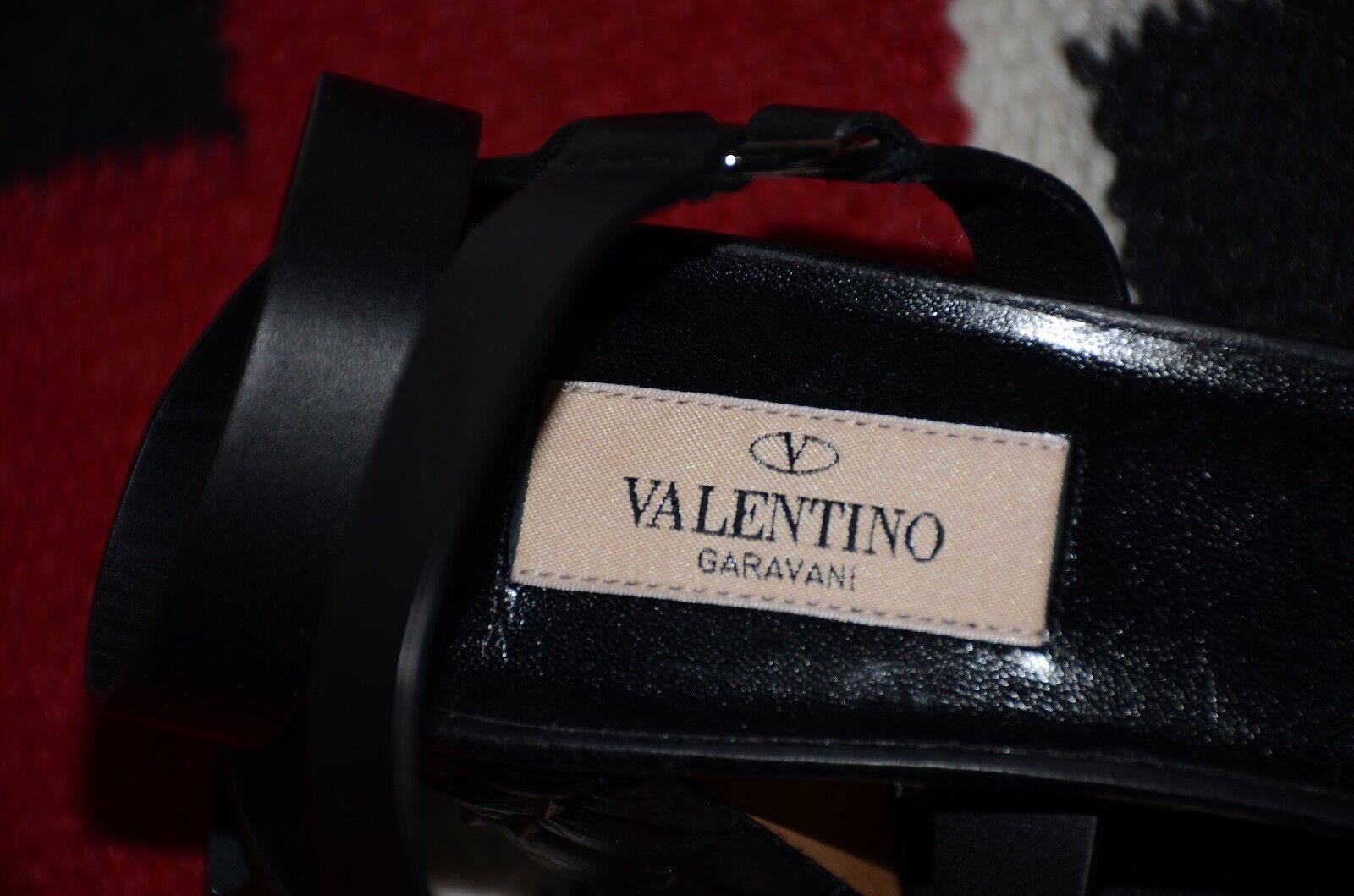 Valentino Valentino Valentino Garavani Made in  Leather Rockstud Spike Sports Sandals 39.5 a0bdf7