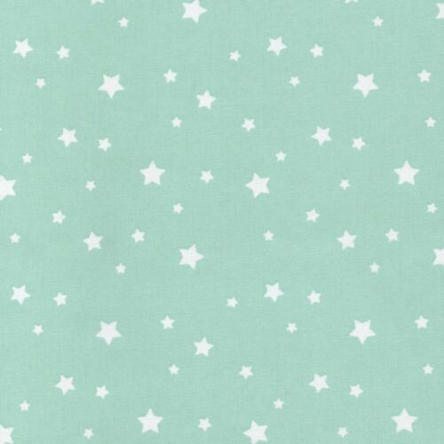 Etoile Stars 100/% Cotton Fabric Star Dressmaking Quilting Pure Mint