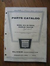 Oliver Oc4 3d Diesel Crawler Tractor Parts Book Manual Original