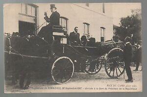 Details Sur Carte Postale Inondations De Sommieres Gard 1907 Arrivee A La Gare Du President