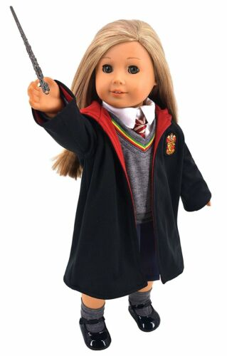Ebuddy Hermione Granger Inspired Doll Clothes Shoes American Girl Hogwarts Cloak