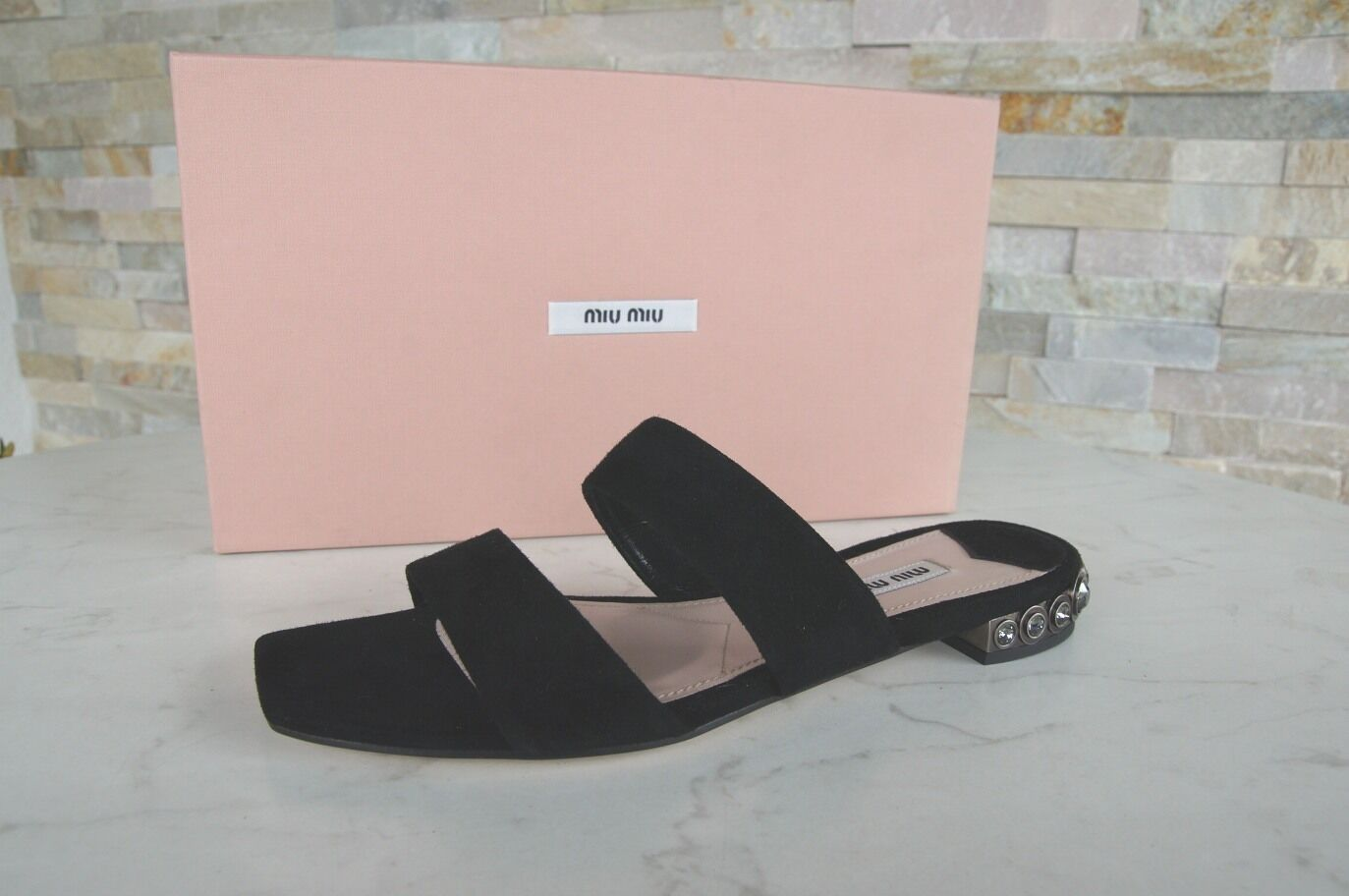 Miu Miu sandalias sandalias zapatos sandalias negro nuevo PVP